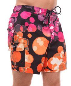 calvin klein case print trunks pink