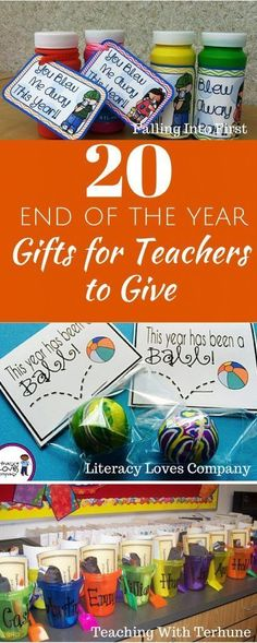 20 End of the Year gifts for teachers to give! Affordable and easy to make!