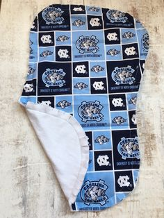 North Carolina Baby Burp Cloth - North Carolina Baby Gift - Tar Heels Burp Rag - UNC Baby - North Carolina Baby Girl - Tar Heels Baby Boy by BrikayDesigns on Etsy