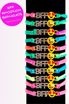 #BFF #emoji bracelets.