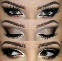 A huge selection of eye makeup tips, videos and eye makeup tutorials, learn how to apply eyeliner and eyeshadow using step by step or how to's from top make up professionals. Gorgeous Makeup, Pretty Makeup, Love Makeup, Makeup Inspo, Makeup Inspiration, Amazing Makeup, Gorgeous Eyes, Makeup Trends, Kiss Makeup