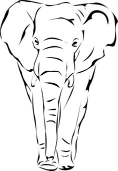 Elephant Face Silhouette Clipart - Clipart Kid
