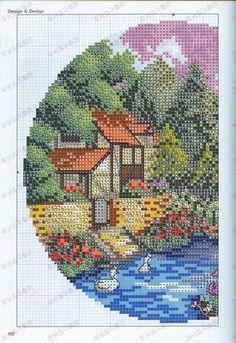 Summer cottage cross stitch 1
