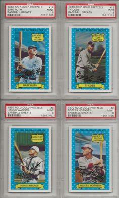 Babe Ruth 1970 Rold Gold Pretzels Baseball Greats #14 - PSA 9 MINT! #BabeRuth