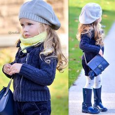 And one more with outfit details. Bag and rain boots hat, scarf, sweater, shorts and tights goodnight ⭐️ Kids Fashion, Autumn Fashion, Designer Baby Clothes, Future Daughter, Rain Boots, Winter Hats, Tights, Crochet Hats, Zara