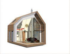 Комфортный маленький домик для дачи