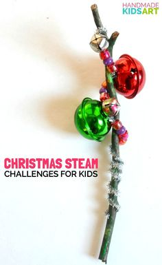 Christmas STEAM Challenges - Build a musical instrument and record your own version of Jingle Bells.