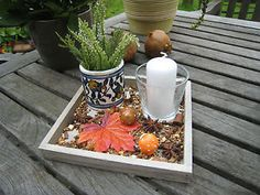 Herbstdeko-Dekoschale-Geschenkidee-Tischdekoration-Tischdeko-Kerzen