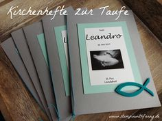 stampinwithfanny stampin up kirchenheft taufheft l. stampinwithfanny stampin up kirchenheft taufheft liederheft thema fisch Invitation Cards, Party Invitations, Guest Gifts, New Baby Cards, Book Themes, Printed Materials, Letters And Numbers, Stamping Up, Best Part Of Me