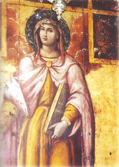 When the Governor of Chalcedon ordered all to sacrifice to a pagan god, 49 Christians hid. They were found and tortured for 19 days; none gave in. The Governor then sent them to another prison, all except the youngest, Holy GreatMartyress Euphemia, who he thought would give in. God's Angels disabled a wheel with sharp knives and red-hot ovens intended to kill her. Having prayed for violent death, she died in the arena when a bear lightly bruised her leg; other beasts didn't touch her. (Sept…