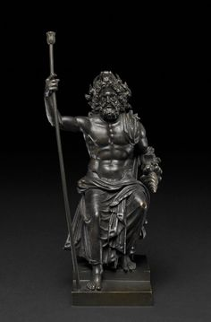 Bronze statuette of Zeus Roman period, first–second century AD, said to be from Hungary 9 x 4 x 4 in. GR (Bronze © The Trustees of the British Museum All rights reserved. Roman Sculpture, Bronze Sculpture, Sculpture Art, Ancient Rome, Ancient Greece, Ancient History, Greek Gods And Goddesses, Greek And Roman Mythology, Zeus Statue