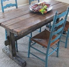 50 Best country kitchen tables images | Country kitchen ...