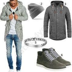 Herren-Style mit Hoodie, Parka und Mütze (m0744) #hoodie #jacke #mütze #outfit #style #herrenmode #männermode #fashion #menswear #herren #männer #mode #menstyle #mensfashion #menswear #inspiration #cloth #ootd #herrenoutfit #männeroutfit