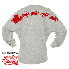 Spirit jerseys make great holiday gifts. Use heat transfer materials and a heat press to create your own Christmas designs.