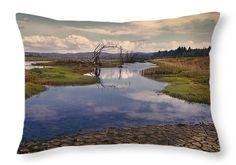 """Swamp Throw Pillow 20"""" x 14"""""""