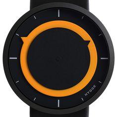 Orange and black watch www.hottrotter.com