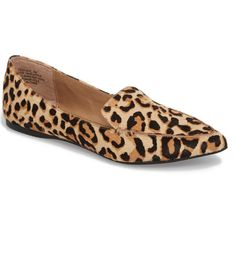 08d1561f8 Free shipping and returns on Steve Madden Feather-L Genuine Calf Hair  Loafer Flat (