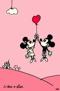So this is love....Mickey and Minnie