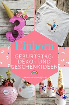 Unicorn birthday - DIY for your party: decoration, gifts and food, Unicorn Cookies, Unicorn Cupcakes, Diy Birthday Shirt, Harry Potter Bricolage, House Party, Presents For Boyfriend, Birthday Numbers, Friend Birthday Gifts, 20th Birthday