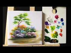 Painting a Autumn Forest Lanscape with Acrylics - YouTube