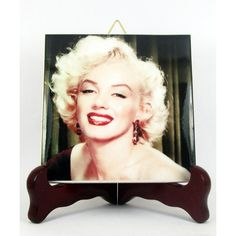 Marilyn Monroe Ceramic Tile Coaster Magnet Handmade from Italy High... (1.140 ISK) ❤ liked on Polyvore featuring home, home decor, ceramic home decor, movie home decor and handmade home decor