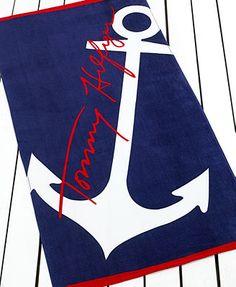 Tommy Hilfiger Towels Oversized Anchor Beach Towel, Macys