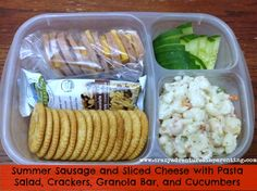 A list of realistic school lunches