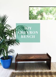 The possibilities are endless for this DIY chevron bench. Justina Blakeney walks us through this project step-by-step.
