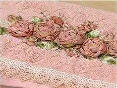 Bordado Passo a Passo: Rosa de fita de gorgurão