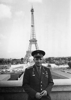First man to travel into space: Russian (Soviet) cosmonaut Yuri Gagarin