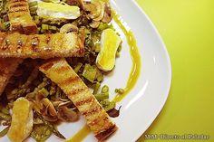 Ensalada templada de espinacas y verduritas