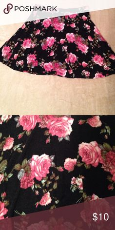 Floral skater skirt Romantic floral skater mini skirt looks amazing on . No flaws no trades . Skirts Mini