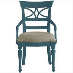 Coastal Living Retreat-Sea Watch Arm Chair in English Blue - 411-51-70 STANLEY