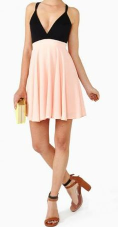 Sexy Deep V Neck Backless Splicing Chiffon Strap Dress