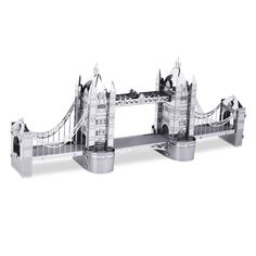 Metal Earth London Tower Bridge PRODUCT FEATURES DIY metal model Create your own London Tower Bridge Detailed laser etching Authentic 3D design Tweezers are recommended for bending or twisting the connection tabs No glue or solder needed