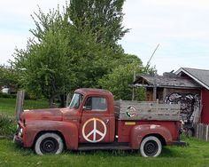 Hippie pickup truck, pacific northwest. Photo by Judith Baker Montano