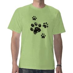 Beautiful Grunge paw prints of dog or cat design on t shirts specially for men and any pet / dog lover   http://www.zazzle.com/paw_prints_tees-235901026547180861