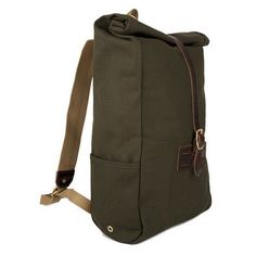 Roll Top Backpack - Olive Duck | Izola