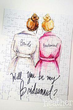 Super Fabulous Bridesmaid Proposal Ideas ❤ See more: http://www.weddingforward.com/bridesmaid-proposal-ideas/ #weddings