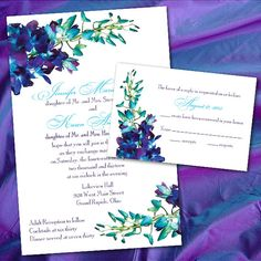Blue Orchid Wedding Invitations by InviGAYtions on Etsy, $3.95