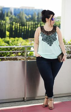 ootd casual jeans mint top plus size jeans city chic plus size