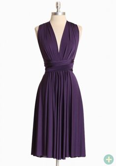 wrapped in the night curvy plus dress in plum