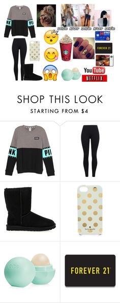 """""""Basic White Girls Be Like..."""" by emmamendes13 ❤ liked on Polyvore featuring UGG Australia, Kate Spade, xO Design, Eos, Forever 21, women's clothing, women's fashion, women, female and woman"""