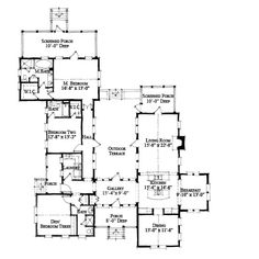 Allison Ramsey Architects | Floorplan for Distant Island House - 2492 sqaure foot house plan # C0543