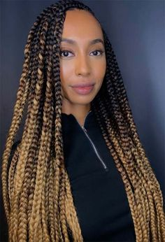61 Badass Box Braids to Inspire: Box Braid Hairstyles Guide Brown Box Braids, Burgundy Box Braids, Ombre Box Braids, Colored Box Braids, Large Box Braids, Triangle Box Braids, Short Box Braids, Blonde Box Braids, Jumbo Box Braids