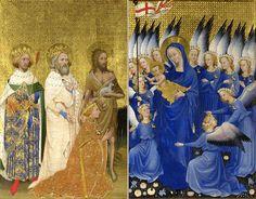 Dittico Wilton - ca 1395/1399 - tempera su tavola - ogni scomparto 53x37cm - Londra, National Gallery.
