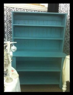 Shabby Chic Farmhouse style Cabinet with Hutch