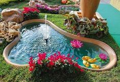 11 Εντυπωσιακά συντριβάνια για τον κήπο σου! | exypnes-idees.gr Water Pond, Backyard, Outdoor Decor, Design, Home Decor, Hobby, Absolutely Stunning, Waterfalls, Garden Ideas