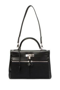 Vintage Hermes Leather Kelly Lakis 32 Handbag (Stamp: Square K, Silver Hardware) - Black by LXR on @HauteLook