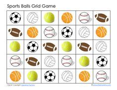 Baseball, Basketball, Football, Soccer ~ Grid Games